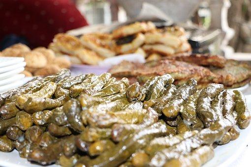 Stuffed, Wrap, Leaves, Food, Turkish, Full, Traditional