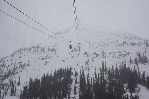 Tram, Skytram, Jasper, Summit, Fog, Winter, Risk