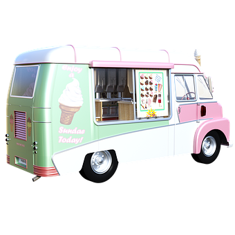 Ice Cream, Truck, Snack, Food, Cold, Sweet, Treat