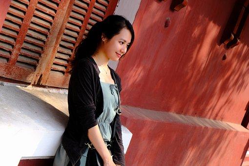 Girl, Vietnam, Hue City, Portrait, Asian, Windows