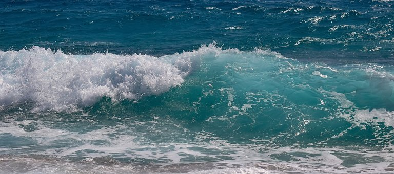 Wave, Transparent, Turquoise, Sea, Water, Nature