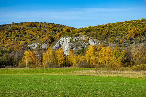 Hungary, Aggtelek, The Limestone Cave Entrance, Autumn