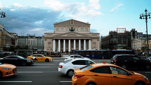 Bolshoi Ballet, Road, Autos, Taxis, Ballet, Theater