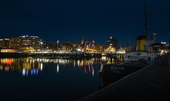 Kiel, Port, Tug, Odin, Baltic Sea, Ship, Sailing Vessel