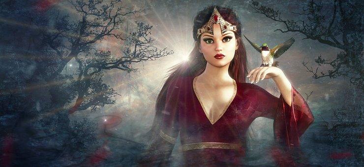 Fantasy, Fee, Forest, Bird, Elf, Fairy Tales, Mystical