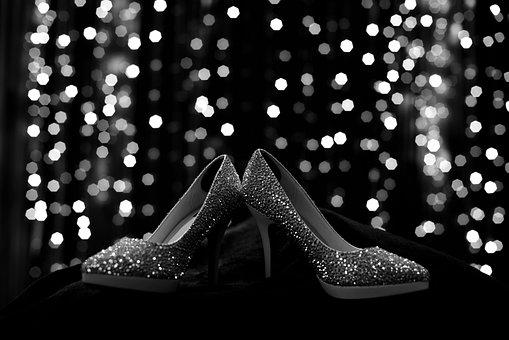 Shoes, Bokeh, Fashion, Walking, Black And White, Bridal