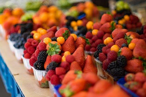 Strawberry, Fruit, Blackberries, Raspberries