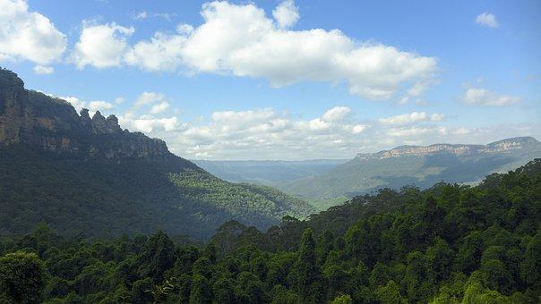 Australia, Three Sisters Rock, Mountain, Blue Mountain
