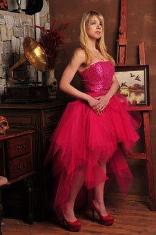 Lady, Tattoo, Princess, Gown, Dress, Hair, Female