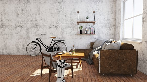 Interior, Sofa, Furniture, Window, Bicycle, Wood, Floor