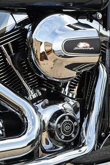 Harley Davidson, Motorcycle, Engine, Harley, Chrome
