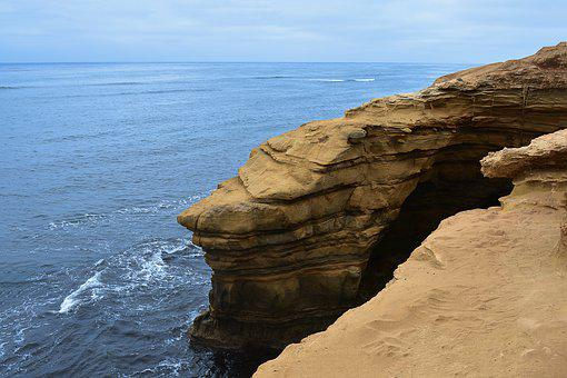 Sea, California, Ocean, Sky, Holiday, Panorama, Rocks
