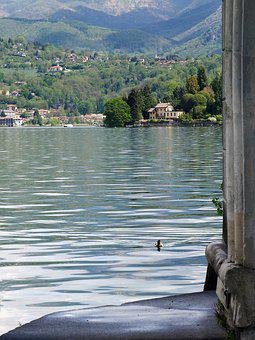 Lake, Orta, Italy, Romanticism, Houses, Island, Waters