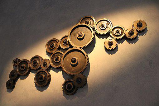 Gears, Factory, Industry, Industrial, Mechanical