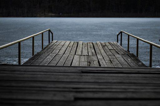 Nature, Lake, Platform, Bridge, Ice, Peaceful, Frozen