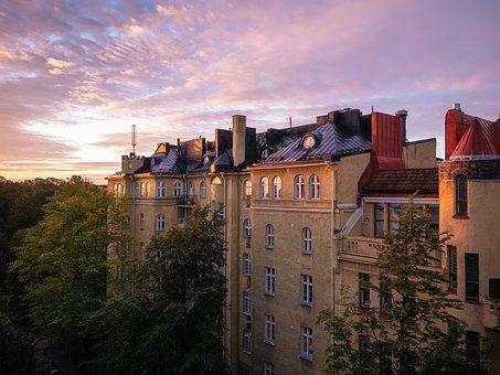 Sunrise, Old Building, Building, Architecture, Historic