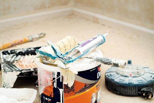 Paint, Interior Paint, Paint Bucket, Plastering