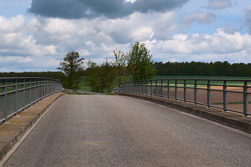 Bridge, Railing, Landscape, Fields, Crossing