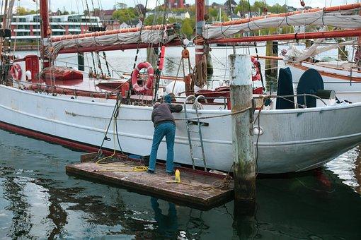 Yacht, Clean, Frühjahrsputz, Port, Scrub Brush, Ship