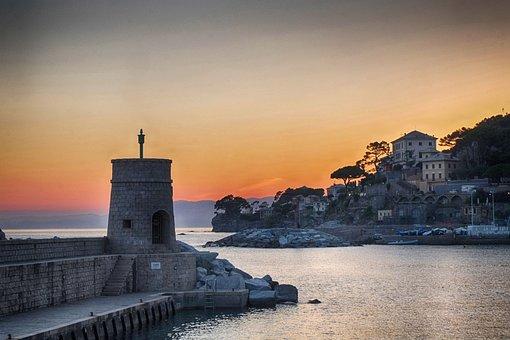Recco, Genoa, Sea, City, Landscape, Tourism, Italy