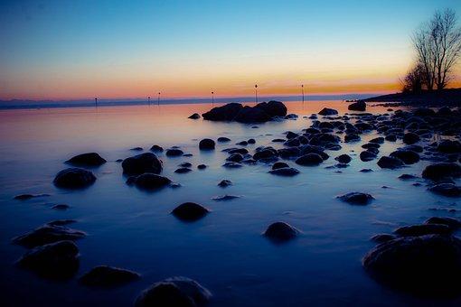 Bridge, Sea, Water, Beach, Ocean, Sky, Pier, Sunset