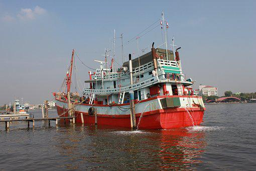 Boat, See, Ship, Ao, Horizon, Fisherman, Bay, Travel