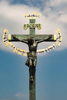 Bridge, Karl, Prague, Skull, Cross, Jesus, Church