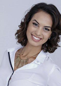 Woman, Smiling, Happy, Portrait, Brunette, Attractive