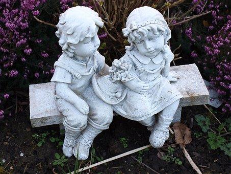 Statuette, Angels, Brother, Child, Figurine, Spirit
