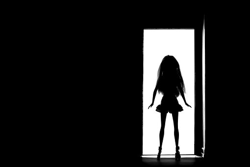 Barbie, Silhouette, Portrait, Girl, Backlit, Backlight