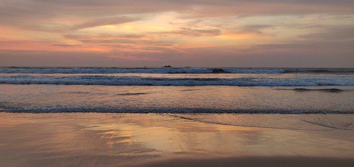 Sri Lanka, Ahungalla, Beach, Sunset, Nature, Landscape