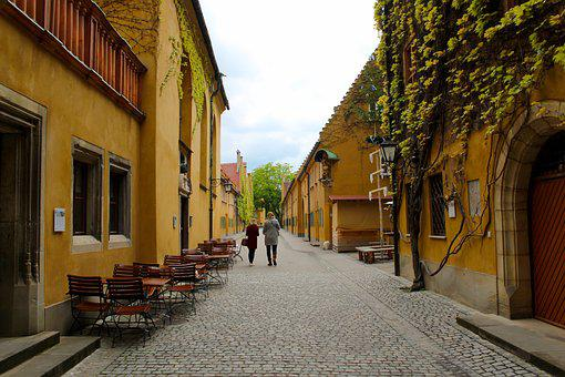Augsburg, Fuggerei, Building, Bavaria, Germany