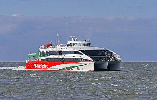Helgoland Ferry, Catamaran, North Sea
