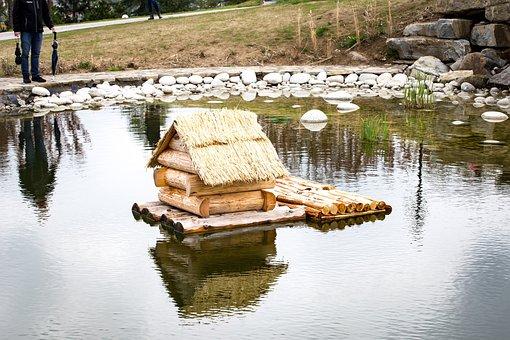 Cottage, Water, Garden, Nature, Landscape, Mountains
