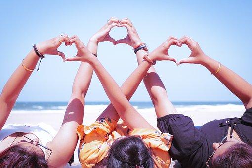 Goa, Baga Beach, Girls, Fun, Love, Poses, Creativity