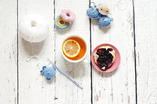 Handmade, Crochet, Crocheting, Yarn, Tea, Lemon
