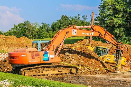 Heavy Equipment, Dig, Excavator, Machinery