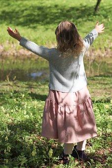 Baby, Girl, Park, Walk, Happiness, Joy, Nature