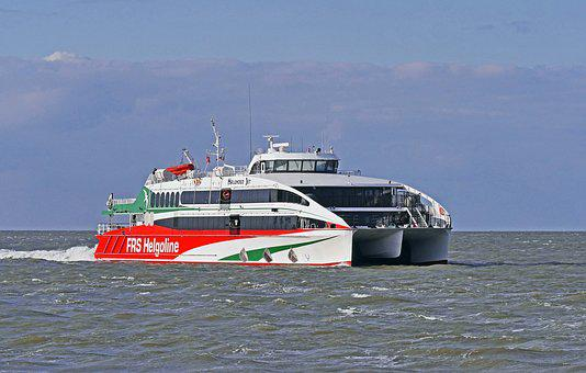 Helgoland Ferry, Catamaran, North Sea