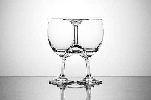Wine Glass, Glass, Light, Abstract, Symmetry