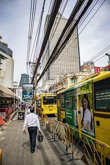 Street, Bangkok, Market, Work