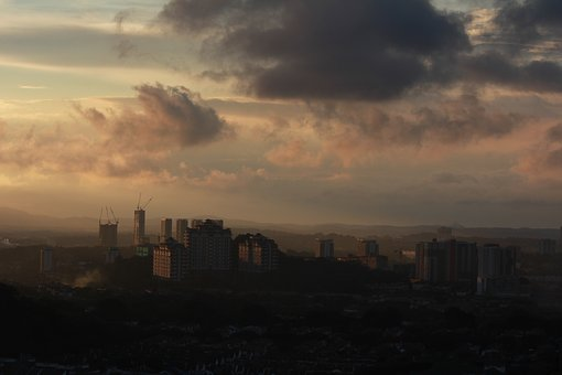 City, Sunset, Nature, Sky, Cloud, In The Evening