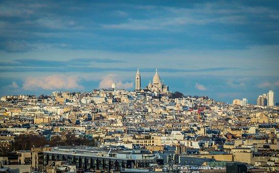 Paris, France, Montmartre, Tourism, Sky, Blue Sky, Abby