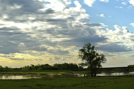 River, Landscape, River Landscape, Aue, Depression