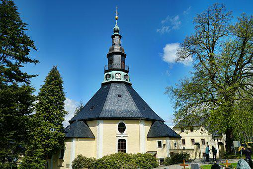 Mountain Church, Seiffen, Ore Mountains, Saxony