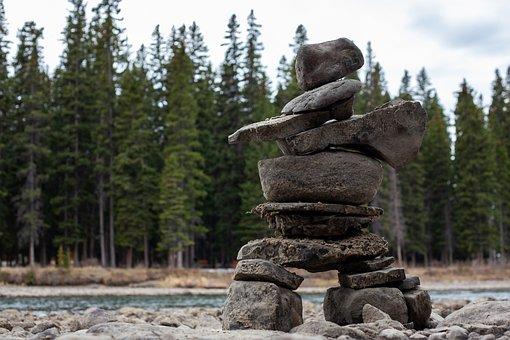 Stone Pile, Banff, National Park, Stone Age, Stones