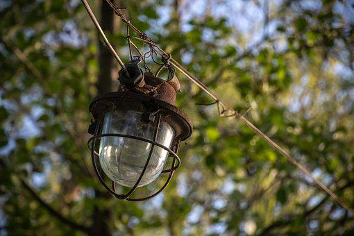 Lantern, Street, Old, Light Bulb