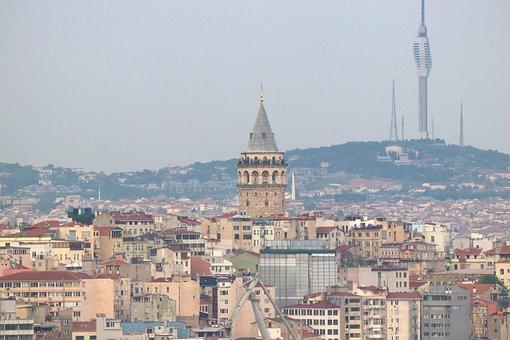 Galata, Galata Tower, City, Landscape, Istanbul, Turkey