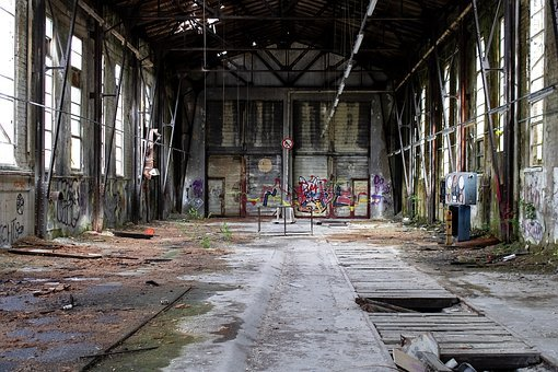 Storage Hall, Warehouse, Dilapidated, Architecture