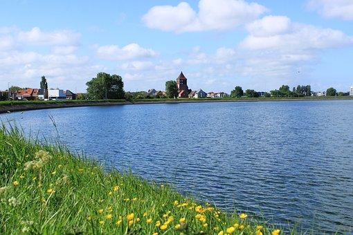 Oostende Spuikom, Reservoir, Water, Landscape, Nature